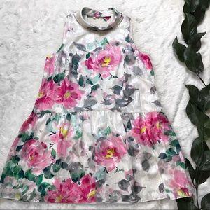 Eliza J Watercolor Floral Sleeveless Mini Dress
